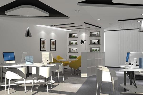 济南商务办公室装修如何进行简约的设计