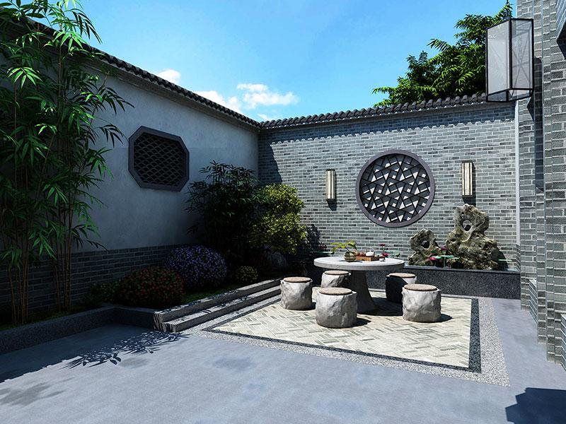 远山民宿庭院