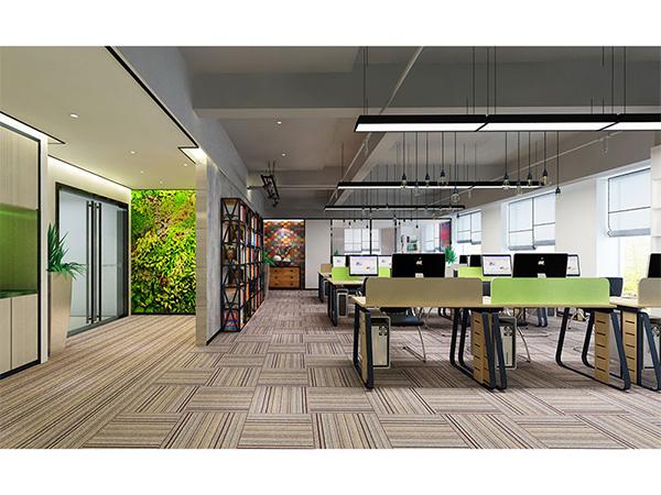 办公室室内装修设计让小空间变大格局